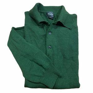 NEIMAN MARCUS Green Merino Wool Sweater